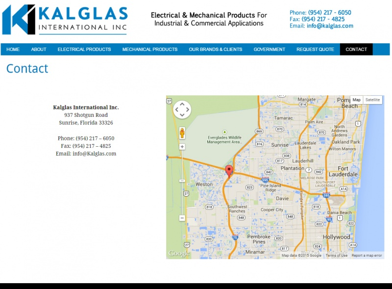 Kalglas inc custom wordpress web design for Hispano international decor contact number