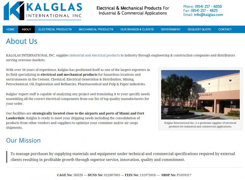 Kalglas Inc Custom Wordpress Web Design