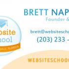 Website School Business Card Design