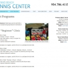 Pompano Beach Tennis Center Adult Programs