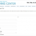 Pompano Beach Tennis Center Contact