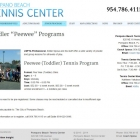 Pompano Beach Tennis Center Junior Programs