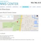 Pompano Beach Tennis Center Map & Directions
