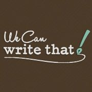 We Can Write That