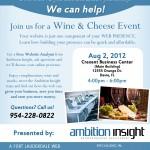 South Florida Web Development Wine & Cheese Flyer